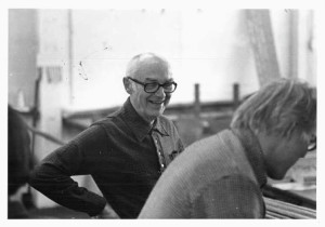 Jim Ahrens in his studio
