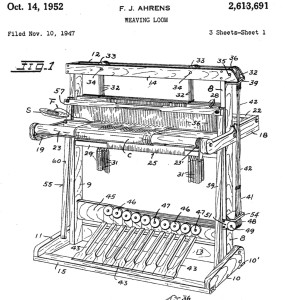 Patent for Ahrens loom cropped