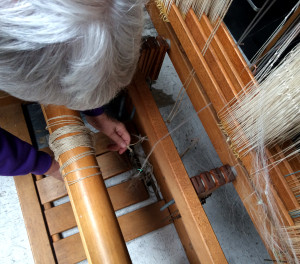 Two Beam cord path 3 - path from shaft to treadle